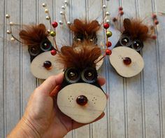 Reindeer Ornament Recycled Hand Made by KingsBenchCreations
