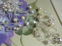 Bridal hair accessories/ wedding hair accessories, bridal hairvine, wedding hairvine, Handmade crystal pearl silver hairvine