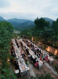 Curtis Stone Lindsay Price wedding in Mallorca -- Photo Credit Elizabeth Messina Glamorous Wedding, Dream Wedding, Tent Wedding, Gothic Wedding, Best Wedding Planner, Wedding Bridesmaid Dresses, Event Planning, Countryside, Destination Wedding