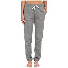 PUMA Sweat Pant Women's Casual Pants ($45) ❤ liked on Polyvore featuring activewear, activewear pants, cotton sweatpants, sweat pants, puma activewear, puma sportswear and puma sweatpants