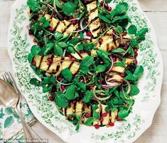 Davina McCall: Halloumi, watercress and pomegranate salad | Daily Mail Online