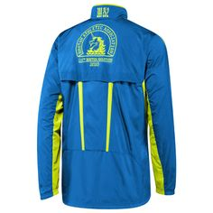 "2010 Men's adidas Boston Marathon Jacket ""Signal Blue"" and ""Acid Buzz"""