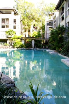 Resort pool at Sea Temple, Palm Cove, Queensland.