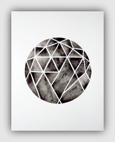 Serene: Handmade Watercolor Art from Geometric Ink
