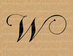 Lettera W Cuore 293 Digital Download Alfabeto iniziale Nome Glyph carattere font Tipografia clipart on Etsy, €1,54