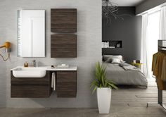 Sectional single wall-mounted vanity unit FREEDOM 16 by LEGNOBAGNO