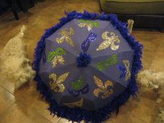 Mardi Gras Umbrella.   Look for a class at Create Studios.    Www.createbr.com  http://tkarts.blogspot.com/ Register here: https://www.eventbrite.com/e/mardi-gras-second-line-umbrellas-tickets-2621930264?nomo=1 #mardigras