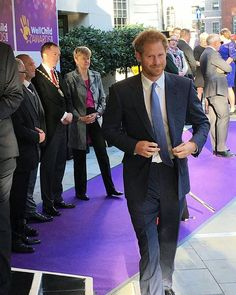 3rd october 2016.  Prince Harry, Patron of the @WellChild charity, arriving at the Dorchester hotel for the 2016 #WellChildAwards in London, England. #PrinceHarry