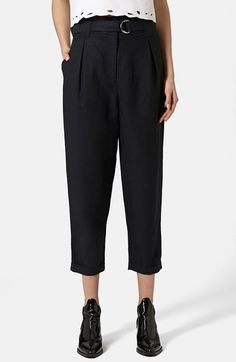 Topshop D-Ring Tapered Trousers available at #Nordstrom