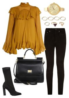 """""""Untitled #1808"""" by kellawear on Polyvore featuring rag & bone, Chloé, Calvin Klein Collection, Dolce&Gabbana, Forever 21 and Michael Kors"""