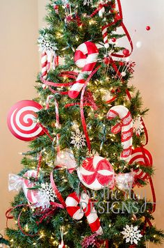 Peppermint Candy Decorations patterns found on etsy from sew love the day, really big ornaments make a fun statement