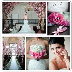Pink wedding decor via Wedding Design Studio
