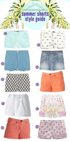 10 pairs of summery shorts you will want in your closet now!