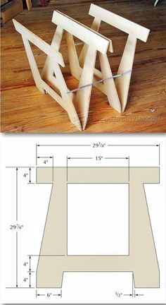 DIY Folding Sawhorse - Workshop Solutions Plans, Tips and Tricks | WoodArchivist.com