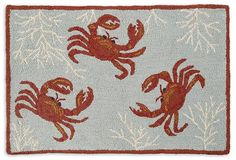 Coral Crab 2'x3' Rug