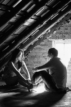 Rustic wedding engagement session