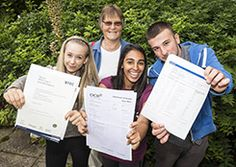 Proud students from Haringey Sixth Form Centre on results day.