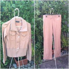 "BCBG sz Lg Tan Sweatsuit Jacket was worn twice and in like new condition. Pants are NWOT so cute and comfy. I took tags off thinking i would take them to get hemmed as these are reg length and I'm only 5'3"" but never did. My loss is your gain. ✂PRICE CUT x3 10/31/15✂️ BCBGMaxAzria Pants"