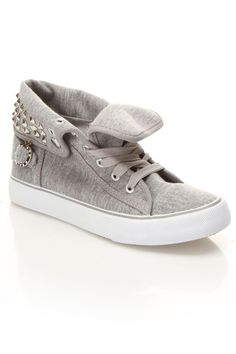 Apple Bottom Biner Sneaker In Gray Jersey