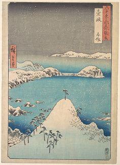 Utagawa Hiroshige | Winter View of Shimasaku in the Province of Iki | Japan | Edo period (1615–1868) | The Met