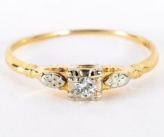 Vintage Diamond Solitaire Ring by baffy21 -- I don't imagine that I would ever actually have this in any scenario, but it is pretty.