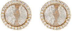 Monique Péan Atelier Women's Grey Diamond Circular Stud Earrings