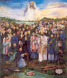 St. Thomas Du Roman Catholic Vietnamese martyr. A native of Vietnam, he entered the Dominicans as a tertiary and aided the Catholic cause in Vietnam until his arrest by authorities. He was tortured and finally beheaded. Feastday May 31Image of St. Thomas Du