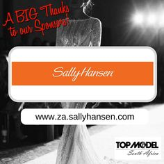Thanks to Sally Hansen for your sponsorship! We appreciate your support!  Visit them on www.za.sallyhansen.com #TMSA17 #TMSASponsor