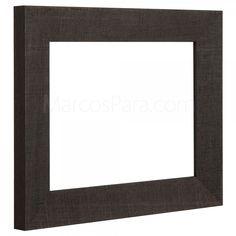 #Marcos para #Puzzles 281   Marco de estilo rústico en madera inclinada de 3.3cms de frontal. Disponible en blanco o wengue. Elije tu color, medida, trasera y el tipo de cristal que quieres.