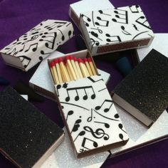 10 Music Note Matchboxes