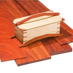 """Padauk by the Piece-3/4"""" Thickness - Prized for its rich, crimson color and excellent durability, Padauk is an excellent hardwood for cabinetry and fine furniture."""