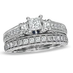 Silvernshine Jewels Bridal Set Wedding Engagement Ring 14k White Gold Plated 3.00 Ct White Diamond. Metal Type :- Sterling Silver Plated. Style : Solitaire With Accent. Main Stone Shape : Round Cut Type : Cubic Zirconia Colour : White. Occasion : Engagement/Wedding/Anniversary. Ring Size : 5 6 7 8 9 10 11 12 13 14 15 & All Middle Size Available.