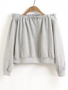 Up to 68% OFF! Cropped Off Shoulder Sweatshirt. Zaful,zaful.com,zaful fashion,tops,womens tops,outerwear,sweatshirts,hoodies,hoodies outfit,hoodies for teens,sweatshirts outfit,long sleeve tops,sweatshirts for teens,winter outfits,fall outfits,tops,sweatshirts for women,women's hoodies,womens sweatshirts,cute sweatshirts,floral hoodie,crop hoodies,oversized sweatshirt, halloween costumes,halloween,halloween outfits,halloween tops,halloween costume ideas. @zaful Extra 10% OFF Code:ZF2017