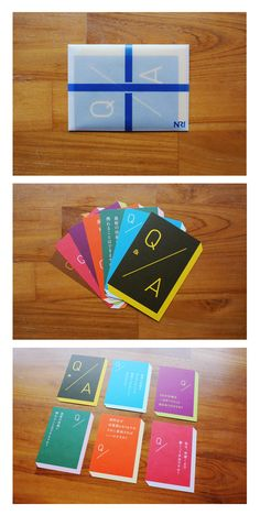 Japanese Q / A Cards Branding, Application Design, Graphic Design Print, Japanese Design, Visual Identity, Editorial Design, Typo, Packaging Design, Layout