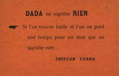 Tristan Tzara, Papillon Dada, 1919-1920.