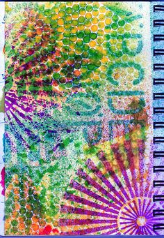 Dylusions Spray and stencils- art journaly inspiration.