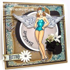 Image by Bombshell Stamps, colored with Copic Markers.