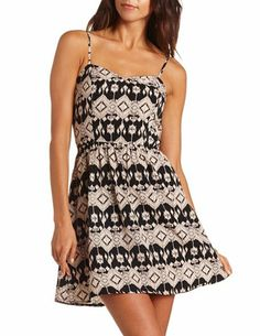 Zip-Back Tribal A-Line Dress: Charlotte Russe