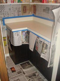 7 pasos para pintar la encimera de la cocina