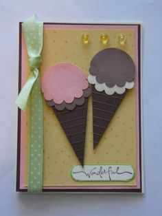 Crafting The Web: Scallop Punch Ice Cream Cone Tutorial