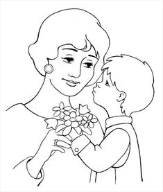 Mothers Day Presents, Mothers Day Crafts, Fall Crafts For Kids, Diy For Kids, Mothers Day Coloring Pages, Funny Emoji Faces, Family Theme, Human Drawing, Art Drawings For Kids