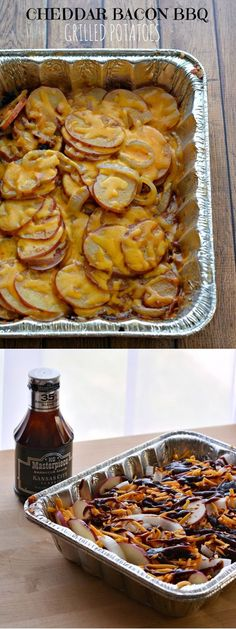 Cheddar Bacon BBQ Grilled Potatoes | Delicious Homemade BBQ Side Recipes by DIY Ready at http://diyready.com/diy-recipes-bbq-ideas/