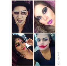 Heróis e vilões nas maquiagens do Beauty Team da NYX Belém.