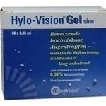 HYLO VISION Gel sine Einzeldosispipetten Augentropfen:   Packungsinhalt: 60X0.35 ml Einzeldosispipetten PZN: 04522014 Hersteller:…