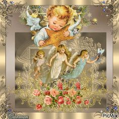 children are angels Mary Christmas, Christmas Angels, Shabby Chic Christmas Ornaments, Bible Photos, Disney Illustration, Angel Wallpaper, Angel Images, Gifs, Angel Art