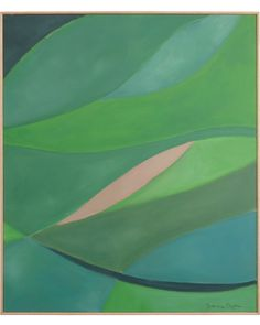 """Verdant"" by Serena Dugan 3400 34.5x40.5 acrylic on canvas, hand-built oak frame"