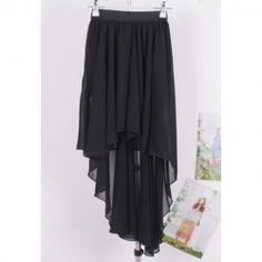 $5.69 Stylish Irregular Design High-Low Good Quality Chiffon Skirt For Women