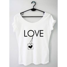 Time For Fashion Love love / t-shirt biały