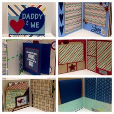 3 Daddy and Me scrapbooks custom order for Megan by ascrapabove