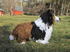 """NEW FEATURE!!! 5 PAGES OF STEP BY STEP INSTRUCTIONAL PHOTOS    Since Sheltie's and Collie's are so similar looking, this pattern can be used to make either. The finished dog has the coloring and attributes of a realistic Shetland Sheepdog or Collie. He measures 14""""L x 10.5""""H x 5""""W and is made from my own original pattern."""